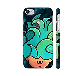 Colorpur iPhone 7 Logo Cut Cover - Deep Blue Sea Printed Back Case