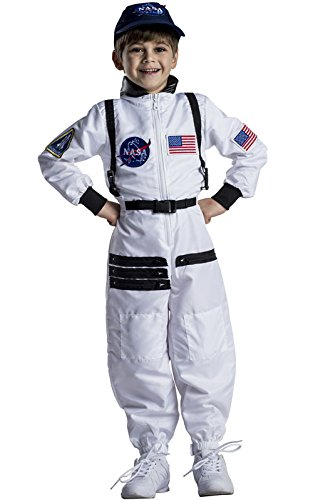 Dress Up America Attraktiver weißer Astronaut Space Suit für Kinder (Up Dress Astronaut Kostüm)