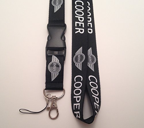 deluxe-mobile-phone-identity-card-lanyard-neck-strap-black-mini-cooper