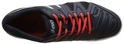 Asics Gel Game 5 Clay, Chaussures de Tennis Homme Bleu (Sky Captain/White/Orange)