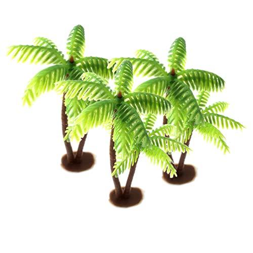Garneck 3 stücke kunststoff kokospalme miniatur pflanzentöpfe bonsai künstliche pflanze dekoration handwerk mikrolandschaft