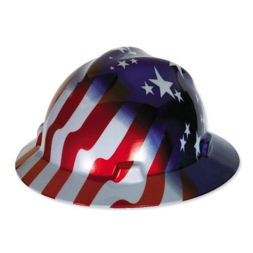 Freiheit SeriesTM Class E Typ I Hard Hat mit fas-trac ® Fahrwerk und American Stars und Stripes