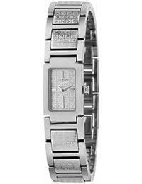 DKNY NY4444 - Reloj analógico de cuarzo para mujer con correa de acero inoxidable, color plateado