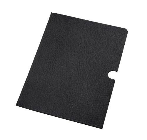 Lucrin - Pochette pelle per documenti A5 - Vacchetta ruvida - Pelle - Nero
