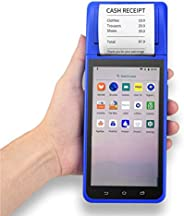 Aibecy Handheld PDA Smart POS Receipt Terminal Printer Android 8.1 with 5.5 Inch Touchscreen Camera 1D 2D Barc