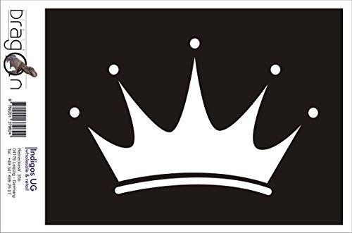 INDIGOS UG Aufkleber Autoaufkleber - JDM Die Cut Auto OEM - Krone - 190x120 mm Gold - Auto Laptop Tuning Sticker Heckscheibe LKW Boot (Mädchen Laptop-aufkleber Krone Für)