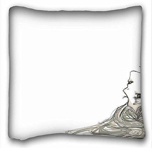 (Soft Kissen Case Cover (Tiere Hound Hunde AWHITE) Custom Reißverschluss Kissen Fall 40,6x 40,6cm (One Seiten) von überraschen Sie passend für queen-bed pc-green-15192, Polyester-Mischgewebe, muster 4, European)