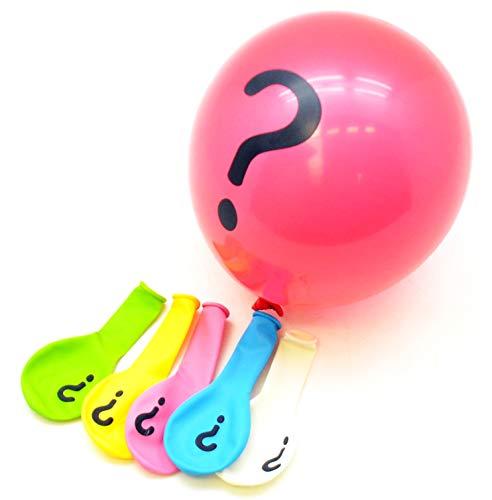 ARTE REGAL- Bolsa 5 globos simbolo interrogación ? (36718)