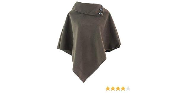 Damen Poncho Pullover Cardigan Tunika Einheitsgröße Sweater Cape Pulli 6 Muster