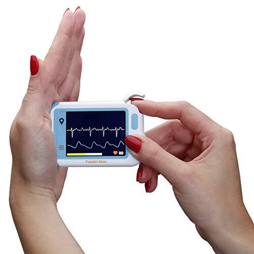 MedX5 Herzfrequenzmesser (Notfall) EKG für Privat und Praxen, Farbdisplay und Anleitung. Zur einfachen Kontrolle des EKG's
