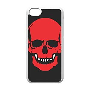 iPhone 5c Cell Phone Case White Skull Cover rwcu