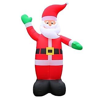 6 Meter Grosser XXL Airblown Weihnachtsmann Dekoration Deko Weihnachtsdeko Figur Aufsteller Aufblasbar Selbstaufblasend Santa