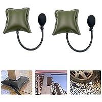 Herramienta de calibración de reparación Bolsa de aire de colchón inflable, herramienta de calibración de cuña de colchón de aire ajustable para colocar la puerta de la ventana (2PCS, Green)