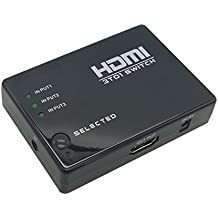 HiAlien 24032 3x1 HDMI switch 4k 30HZ 3D with remote control powered by HDMI cable (Power supply is attached)