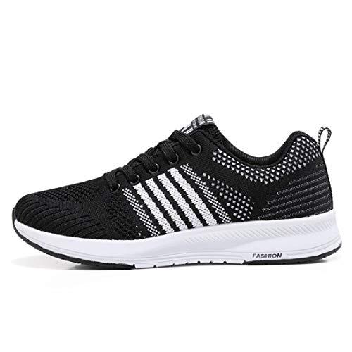 Logobeing Zapatillas Deportivas de Mujer - Zapatos Sneakers Zapatillas Mujer Running Casual Yoga Calzado Deportivo de Exterior de Mujer 35-40 (37, Negro-4546)
