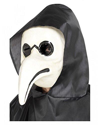 Horror-Shop der Schwarze Tod Pestdoktor Schnabelmaske für Halloween