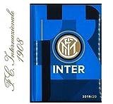 DIARIO SCUOLA INTER MILANO neroazzurro 2019/2020 + omaggio portachiave fischietto + omaggio penna colorata e segnalibro