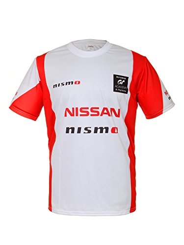 Nissan GTR Nismo White Red Short Sleeve Cool T Shirt Auto Car Graphics Tee Gift