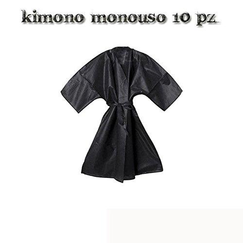 KIMONO DE UN SOLO USO COSMETICS NEGRO O BLANCO DE