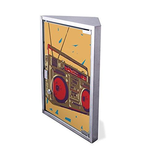 Edelstahl Medizinschrank Eckschrank abschließbar 30x17,5x45cm Badschrank Hausapotheke Arzneischrank Bad Boom Box
