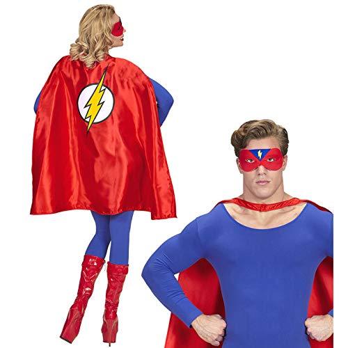 PARTY DISCOUNT® Unisex-Kostüm Superheld, Umhang und - Superhelden Party Kostüm Für Erwachsene