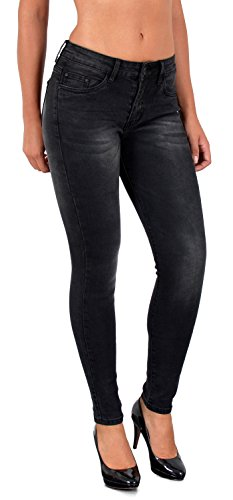 by-tex Damen Jeans Hose Straight Fit Jeans Röhren Jeans Damen Jeanshose Slim Fit Jeans große Größen S800