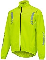 Veste de cycliste homme imperméable, thermique, à haute visibilité et Jaune réfléchissant de OpenRoad Sports