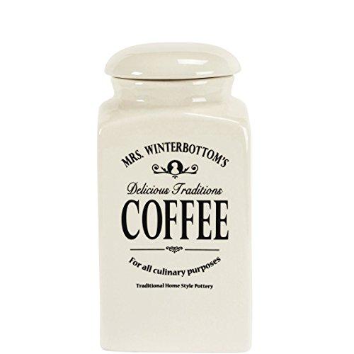 BUTLERS Mrs. Winterbottom's Kaffeedose - aus Steingut im englischen Design - creme