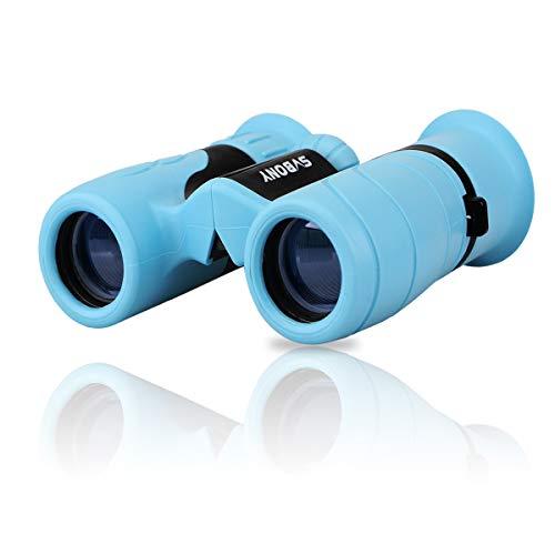 Svbony SV16 8x21 Prismáticos Niños Lentes de Vidrio Óptico Ideal para Juguetes Al Aire Libre de los Niños (Azul)
