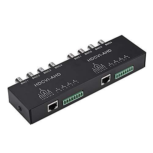 Mavis Laven HD Video UTP Transceiver, BNC zu RJ45 CAT5 / 6 UTP Passiv Transceiver Video Balun für AHD/HDCVI/HDTVI CCTV Kamera(8-CH) -
