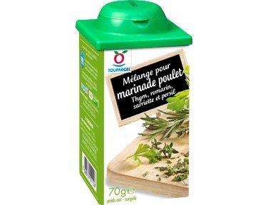 TOUPARGEL - Mélange pour marinade poulet - 70 g - Surgelé
