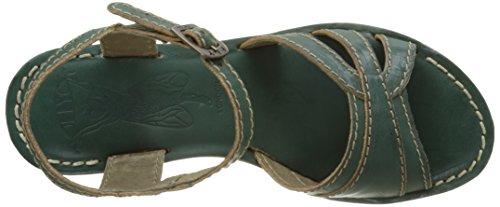 FLY London Gort645, sandales compensées  Femme Vert (Nile Green 008)