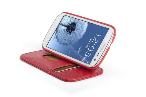 Kensington K39612WW Folio pour Samsung S3 Black crosshatch Rouge snake