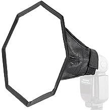 "Neewer® Pro 12 ""/ 32 cm pulgadas Universal plegable Octágono Estudio Caja de luz de difusor de flash para On cámara o Off cámara Flash Gun, para Canon 430EX II, 600EX-RT, Nikon SB600, Neewer TT560,, Youngnuo YN560, Panasonic Lumix Parpadea con una caja de transporte (12 ""octogonal difusor)"