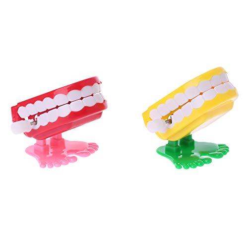Longsw Clockwork Jumping Prothese Lernspielzeug Zahnarzt Desktop Dekoration Streich Spiel (Scary Stories Halloween-spiele,)