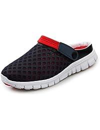 Yying Unisexo Hombres Zapatos Mujeres Sandalias Malla Ponerse Zapatos Zapatillas Antideslizante Playa para Caminar Verano Enfermería Zapatos Respirable Mulas 36-46