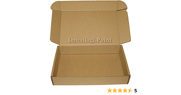 20 pezzi SCATOLA DI CARTONE imballaggio spedizioni 45x40x15cm  scatolone avana