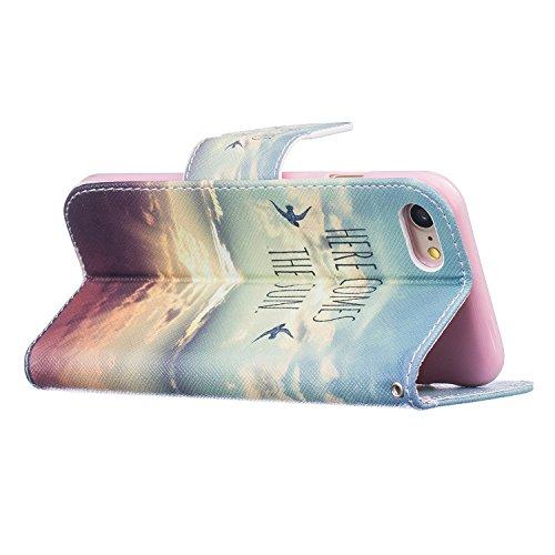 TIODIO® Housse en cuir Pour Apple iphone 7 / iphone 7G PU étui en cuir / case/ coque/ cover/ housse avec la fonction de stand+1 x Stylet+1 x film de protection d'écran, A20 A11