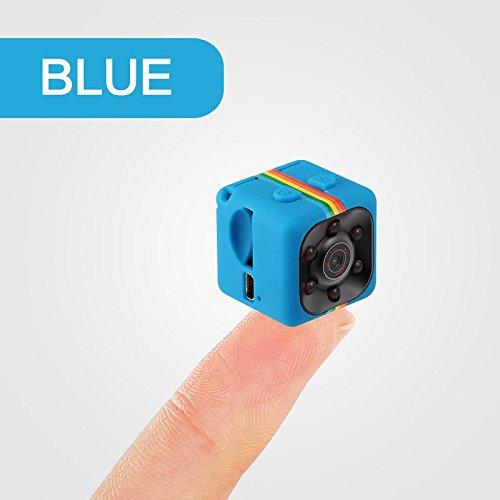 merymall Spion versteckte Camcorder - 1080 P Mini SQ11 Auto DVR DV Kamera Sport Dash Cam Full HD 140 Grad Weitwinkel IR Nachtsicht (Stil 01 Blau)