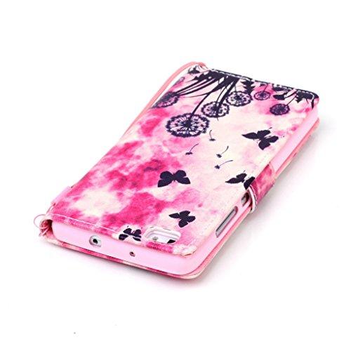 Trumpshop Smartphone Case Coque Housse Etui de Protection pour Huawei P8 Lite + This iPhone is Locked + Smartphonecoque Portefeuille PU Cuir Anti-Choc Jardin Papillon