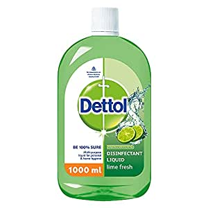 Dettol Liquid Disinfectant for Floor Cleaner, Surface Disinfection , Personal Hygiene (Lime Fresh , 1L)