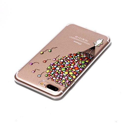 Per iPhone 7 Plus Cover , YIGA Moda piccola turtle Cristallo Trasparente Silicone Morbido TPU Case Custodia per Apple iPhone 7 Plus (5.5) HX53