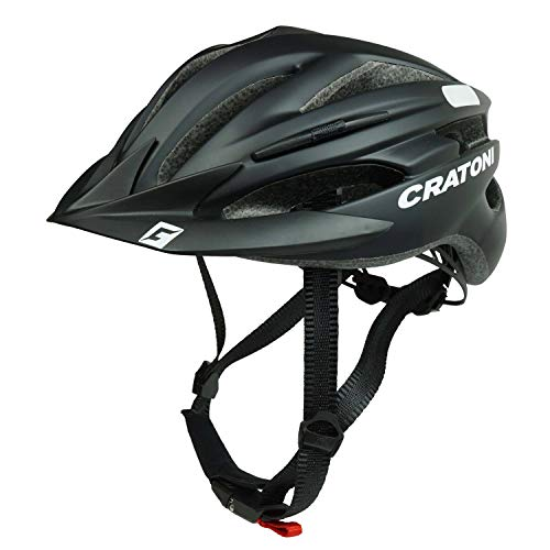 Cratoni Fahrradhelm Pacer, Black matt - Reflektor, Gr. S-M (54-58 cm)