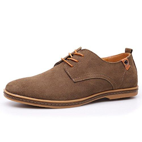 Zapatos de Cordones PU-Cuero Nubuck, Zapatillas Oxford para Hombre Gris 40 EU