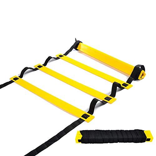 Songlela Koordinationsleiter Sport Trainingsleiter, 20 Sprossen Trainingsleiter Geschwindigkeit Training für Basketball Fußball und Mehr, 10m Speed Ladder mit Tragetasche #4