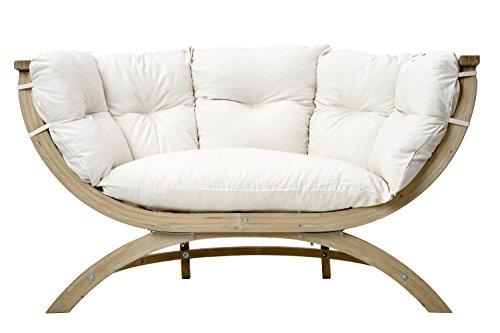 AMAZONAS Lounge Sofa Siena Due Natura aus FSC Fichtenholz ca. 170 x 95 x 65 cm bis 250 kg in Weiß