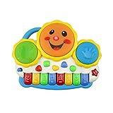 X-Tamburo dei bambini Tamburi Elettronici per Pianoforte A Mano per Bambini con Luci Giocattoli Multicolori per Strumenti Musicali A Colori (Colore : Blu)