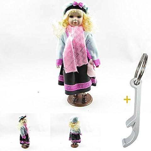 Support Rigide Porcelaine Tête Mannequin Blond Veste en tricot automne # 4667Deko poupée