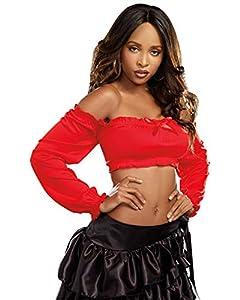 DreamGirl-8358Pretty n disfraz de campesino Top, rojo, mediano/grande