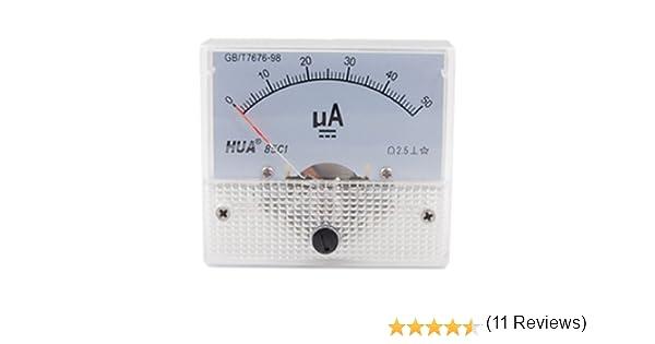 85/C1-A 2.5/Pr/écision DC 0 500/mA Panneau compteur analogique amp/èrem/ètre Amperemeter